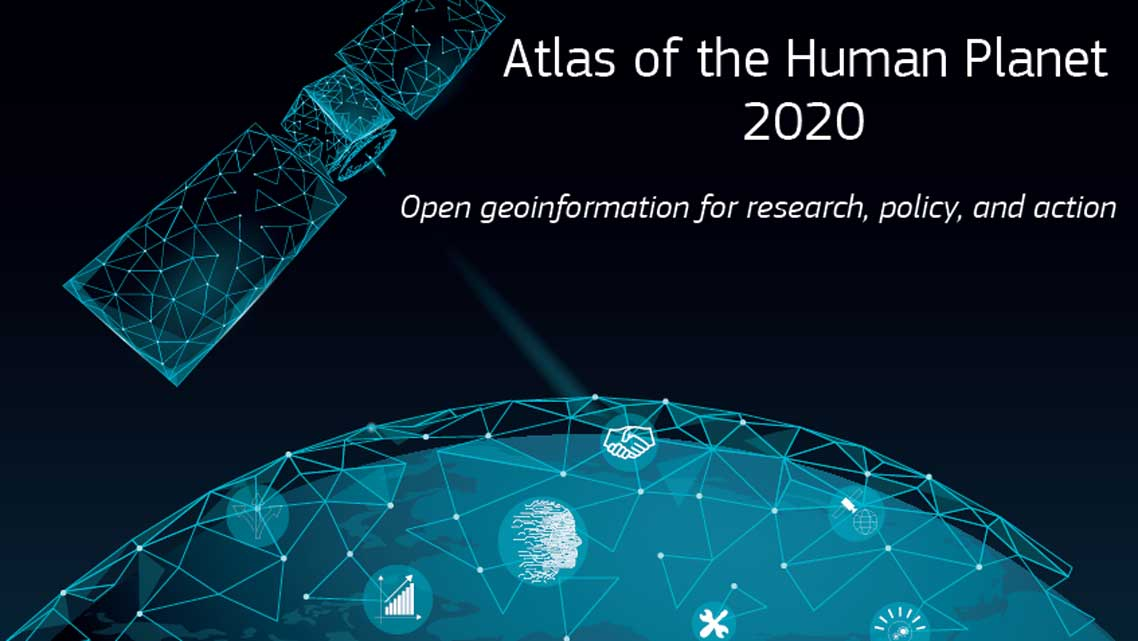 Graphics from the cover of the Atlas of the Human Planet 2020