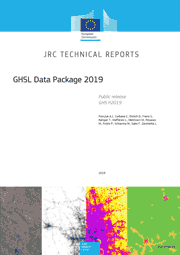 Front cover of the GHSL Data Package 2019 report