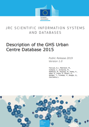 Front cover of the document Description of the GHS Urban Centre Database GHS-UCDB R2019A