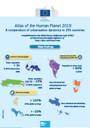 Front cover of the Infographics for the Atlas of the Human Planet 2019